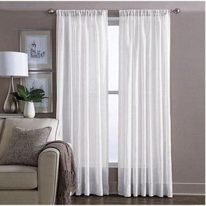 Curtain panel sheer 108″ L x 60″ W white soft